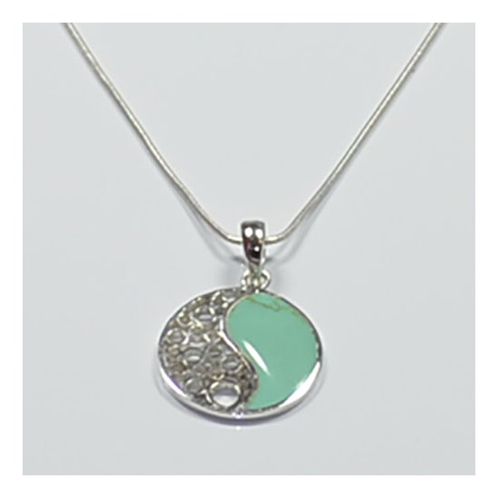 Colgante plata  yin yang